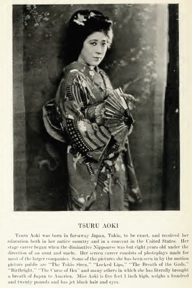 tsuru aoki naquit le 9 septembre 1892 a tokyo au japon petite actrice ...